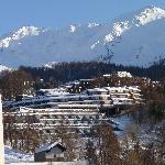il villaggio visto dalla strada