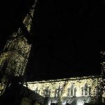 Salisbury Cathedral on a cold winter night