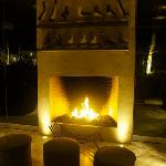 Vista chimenea Lounge - Bar
