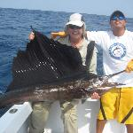 my dad's first sailfish