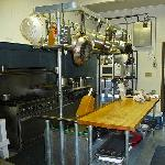 A full professional kitchen is available for guests to use. You bring your own food and clean up