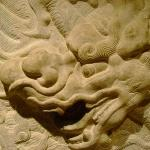 Dayton Art Institute Chinese Stone Relief with Dragon Design {Close Details} 14th - 15th Cent