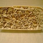 Dayton Art Institute Chinese Plaque with battle scene Ivory