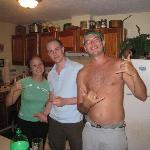 Me and the owners chilling in the kitchen