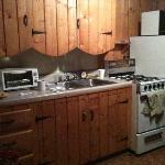 Kitchen Area of 2 Bedroom Cabin