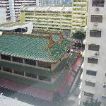 View of temple from my room