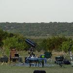 Star*Man's Astronomy set-up await's Night Sky