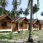 The row of bungalows