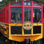 Romantic Tram Kyoto heading to Arashiyama