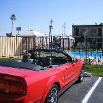 View of my Mustang to the pool