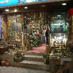 Antiques, khanjar daggers, brass and wooden things galore.  They also have frankincense and myrh