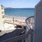 playa desde terraza hotel