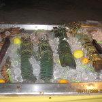 Fresh selection of seafood