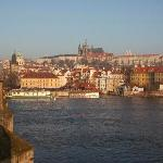 Prag Castle, Mala Strana from Charles Bridge at dawn