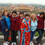 top of Jensung Park overlooks forbidden city...do not miss this park