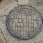 On the manhole cowers in Chandigath has a map of the city, a planned city - Very