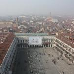 View of Piazza San Marco from the top of the Campanile tower