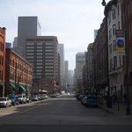 Les rues de Denver: beaucoup moins peuplées que celles de New-York et vraiment différentes!