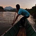 Boat to restaurant