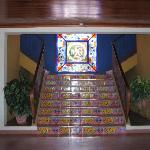 Main staircase up from lobby