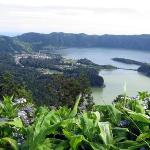 Lagoa Verde and Lagoa Azul (Green Lake and Blue Lake), Western Sao Miguel