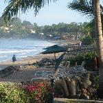 Mar de Jade's beach overlooking the sea, facing Chacala
