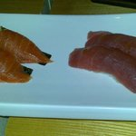 salmon and red snapper sushi