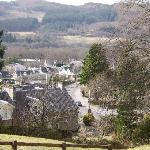 View across Pitlochry from outside hotel