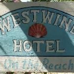 The quaint sign of the Westwind Hotel