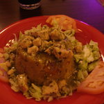 chicken mofongo (traditional PR dish with mashed fried plantains)