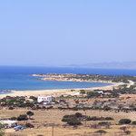 Panorama di Mikri Vigla Beach dalla camera