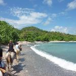 promenade à cheval sur l'1 des plages aux alentours