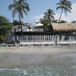 Vista del restaurante desde el mar