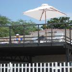 Area de la terraza privada frente a la playa