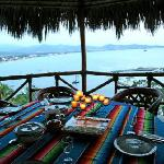 This is the romantic gazebo where meals are served.  What a view!