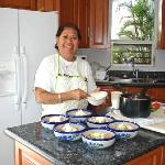 And Juanita is a superb chef.  Here, she's putting the finishing touches on tortilla soup.