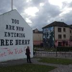 Free Derry monument and mural