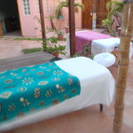 couples massage set up