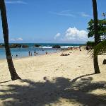 On the beach at the Conrad San Juan Condado Plaza in San Juan, Puerto Rico.