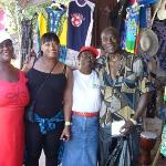 Craft market ~ Montego Bay..... my new Grand- ma! invited us to bar-b-q lobster at her house!