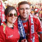 Adrian and Susan at Anfield.