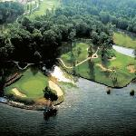 Ariel view of Cypress Bend Golf Course