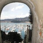 Keyhole view of the bay.  Lerici, Italy