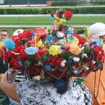 Louisville, KY Churchill Downs... some crazy lady with funny hat...:D