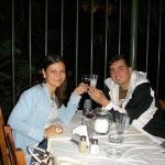 Cenando en Plaka Atenas
