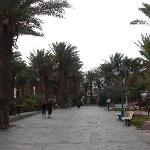 Walk from the swimming pool to the promenade, with its shops, bars and restaurants