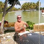 Relaxing in Josone Park Varadero with Pina Colada