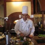 Sous Chef Ahmed Fouad during the Cooking class