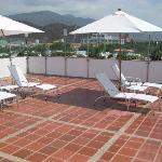 Solarium en la terraza del hotel