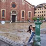 Agua fuera de la Iglesia donde está LA ULTIMA CENA de Da Vinci (Santa Maria delle Grazie)